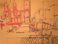 thumbnail lucinda rogers drawing Chrystie Street New York