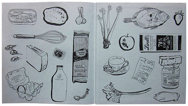 lucinda rogers no place like home rowley leigh cook book illustration endpapers