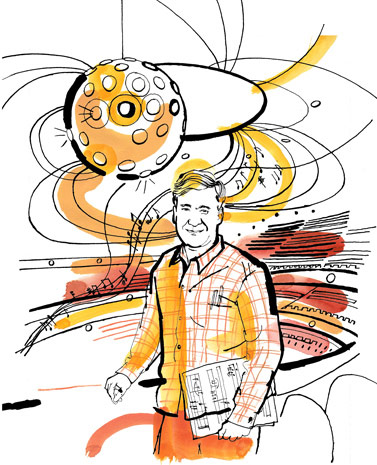 lucinda rogers drawing portrait george steel new york city opera illustration new york magazine