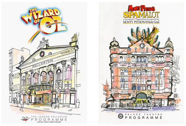 lucinda rogers illustration spamalot wizard of oz london really useful group